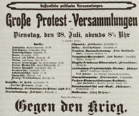 """24. Mai 2014: Reihe zum 1. Weltkrieg: """"Kriegssozialismus"""""""